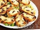 Рецепта Малки сандвичи принцеси с маслини и сиренца - моцарела и пармезан